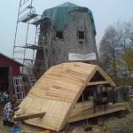 Rackeby, ny hätta till väderkvarn