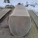 Gångås (vingaxel) av ek, väger 3,5 ton