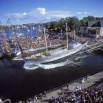 Briggen Tre Kronor sjösätts Skeppsholmen i Stcokholm 27 augusti 2005
