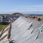 Sörgässlingen, Nordnorge i Atlanten, takreparation